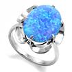 Кольцо с крупным голубым опалом (синтетика) SL-0225-355 весом 3.55 г  стоимостью 2200 р.
