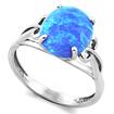 Серебряное кольцо голубой опал SL-0235-300 весом 3 г  стоимостью 1550 р.