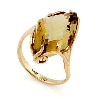 Кольцо с цитрином 5.23 г SL-02431-523