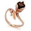 Золотое кольцо с раухтопазом SL-0245-377 весом 3.77 г  стоимостью 15646 р.