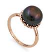 Кольцо с черной жемчужиной SL-0246-420 весом 4.2 г  стоимостью 18480 р.