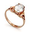 Золотое кольцо с горным хрусталем овал SL-0249-320 весом 3.2 г  стоимостью 14400 р.