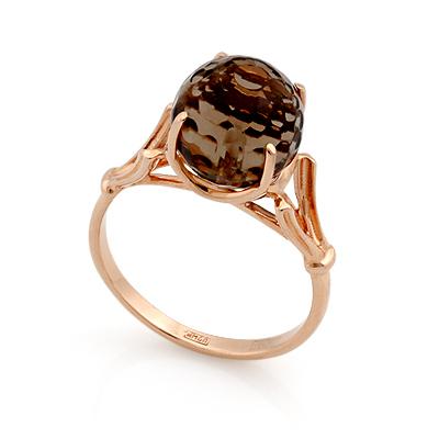 Кольцо с раухтопазом из золота 4.15 г SL-0255-415