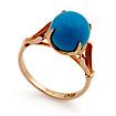 Кольцо с голубой бирюзой огранки шар SL-0259-293 весом 2.93 г  стоимостью 14211 р.