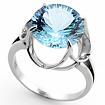 Кольцо с топазом (голубым) SL-0263-495 весом 4.95 г  стоимостью 27720 р.
