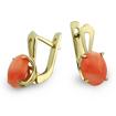 Золотые серьги с кораллом SL-0365-320 весом 3.2 г  стоимостью 15500 р.