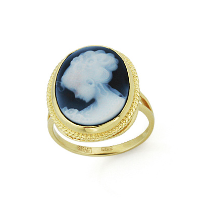 Кольцо с большой камеей 5.27 г SL-0271-527