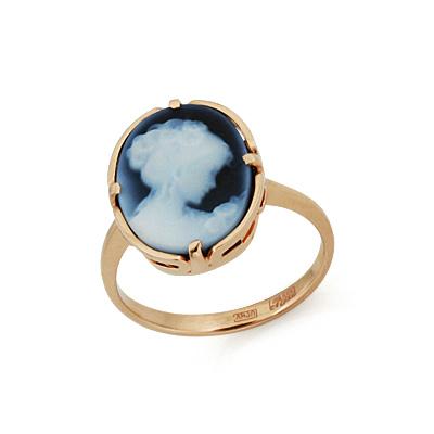 Камея на агате в золоте 4.35 г SLK-0285-430