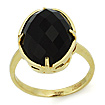 Золотое кольцо с черным ониксом SLK-0285-477 весом 4.35 г  стоимостью 16965 р.
