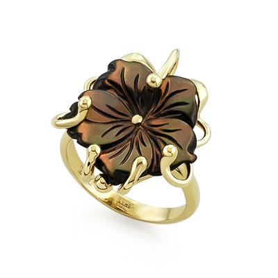 Кольцо с перламутром в золоте 5.85 г SL-0293-585