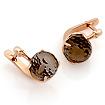 Раухтопаз в форме шара - серьги из золота SL-0355-611 весом 6.11 г  стоимостью 25357 р.