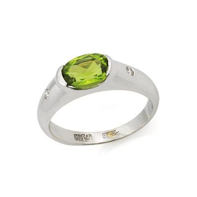 Кольцо с хризолитом 2.99 г SLR-104-300
