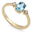 Золотое кольцо с аквамарином и бриллиантами SL-155-240 весом 2.4 г  стоимостью 35700 р.