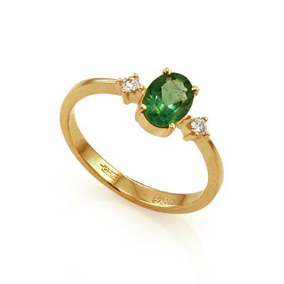 Кольцо с изумрудом золотое 2.39 г SL-155-250