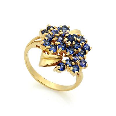 Кольцо с сапфирами из желтого золота 7.46 г SL-17423-746