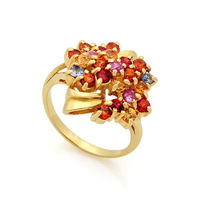 Кольцо с цветными сапфирами 8.49 г SL-17423-849