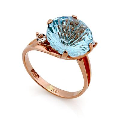 Кольцо с голубым топазом 4.52 г SL-2112-452