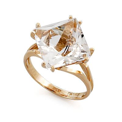 Кольцо из золота с квадратным горным хрусталем 5.13 г SL-2116-513