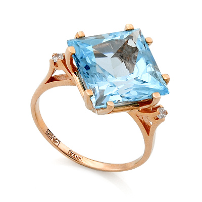Кольцо Золотые кольца с топазом 4.78 г SL-2117-478