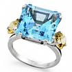 Коктейльное кольцо с топазом SL-2126-730 весом 7.3 г  стоимостью 12000 р.