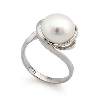 Золотое кольцо с белым жемчугом 5.56 г SL-2135-556