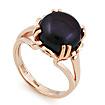 Кольцо с крупным черным жемчугом SL-2153-650 весом 7 г  стоимостью 30100 р.