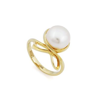 Кольцо с жемчугом из желтого золота 3.74 г SL-2172-374