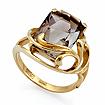 Золотое кольцо с большим прямоугольным раухтопазом SL-2174-605 весом 6.05 г  стоимостью 27225 р.