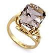 Золотое кольцо с крупным раухтопазом SL-2177-750 весом 7.5 г  стоимостью 33750 р.