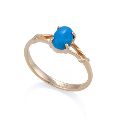 Кольцо из золота с бирюзой 2.06 г SL-2217-206