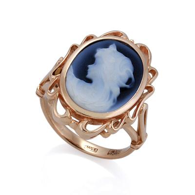 Кольцо с камеей на агате 5.56 г SL-2224-556