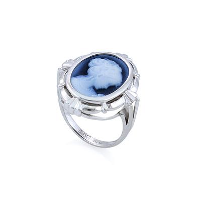 Кольцо с камеей белое золото 5.13 г SL-2228-513