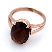 Золотое кольцо раухтопаз 3.8 г SL-2232-380