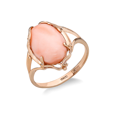 Кольцо с розовым кораллом 4.5 г SL-2237-450