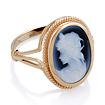 Камея в золотом кольце с агатом 5.1 г SL-2245-481