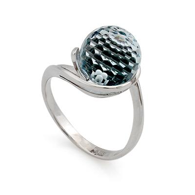 Кольцо с топазом (голубым) 4.48 г SL-2836-448