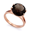 Золотое кольцо с раухтопазом - круг SL-2840-423 весом 4.23 г  стоимостью 17555 р.