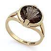 Золотое кольцо с дымчатым кварцем - раухтопаз SL-2844-375 весом 3.77 г  стоимостью 11000 р.
