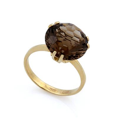 Кольцо из золота с раухтопазом 4.17 г SL-2848-417