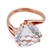 Золотое кольцо с круглым горным хрусталем 4.79 г SL-2852-479