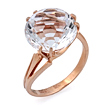 Золотое кольцо с круглым горным хрусталем SL-2852-479 весом 4.79 г  стоимостью 21555 р.