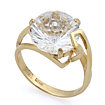 Золотое кольцо с горным хрусталем необычной огранки SL-2853-438 весом 4.49 г  стоимостью 20205 р.