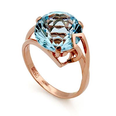 Кольцо с топазом (голубым) «Сфера» 5.05 г SL-2853-505