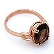 Кольцо из золота с раухтопазом овал 3.83 г SL-2854-383