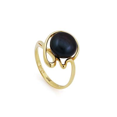Кольцо с черным жемчугом 3.2 г SL-2856-325