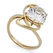 Горный хрусталь в золотом кольце SL-2859-353 весом 3.55 г  стоимостью 15975 р.