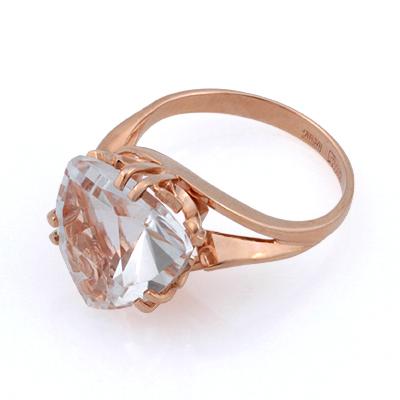 Кольцо из золота с горным хрусталем 5.45 г SL-2849-368