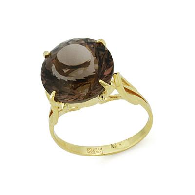 Кольцо с раухтопазом 5.09 г SL-2863-509