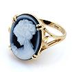 Золотое кольцо камея агат SL-2864-466 весом 4.95 г  стоимостью 34155 р.