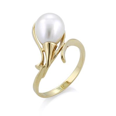 Золотое кольцо с жемчугом 3.5 г SL-2866-466